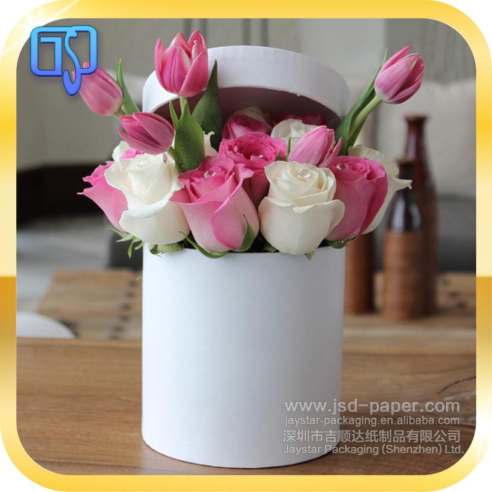 Plain white round flower box packagingflower box high quality and plain white round flower box packagingflower box high quality and luxury for roses mightylinksfo