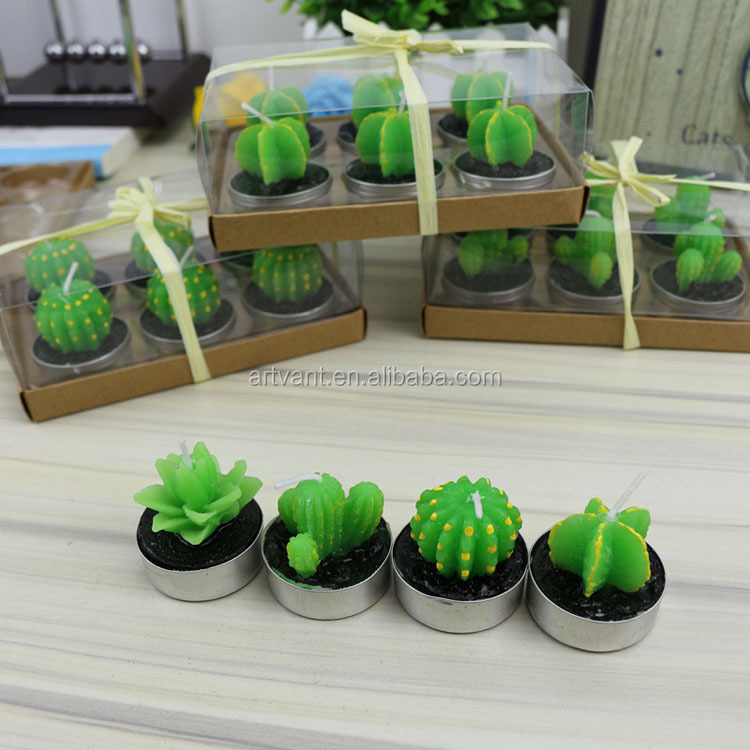Wholesale Potted Plants Aroma Candle Cactus Creative Scented Candle Romantic Home Decoration Crafts Candles in Jar