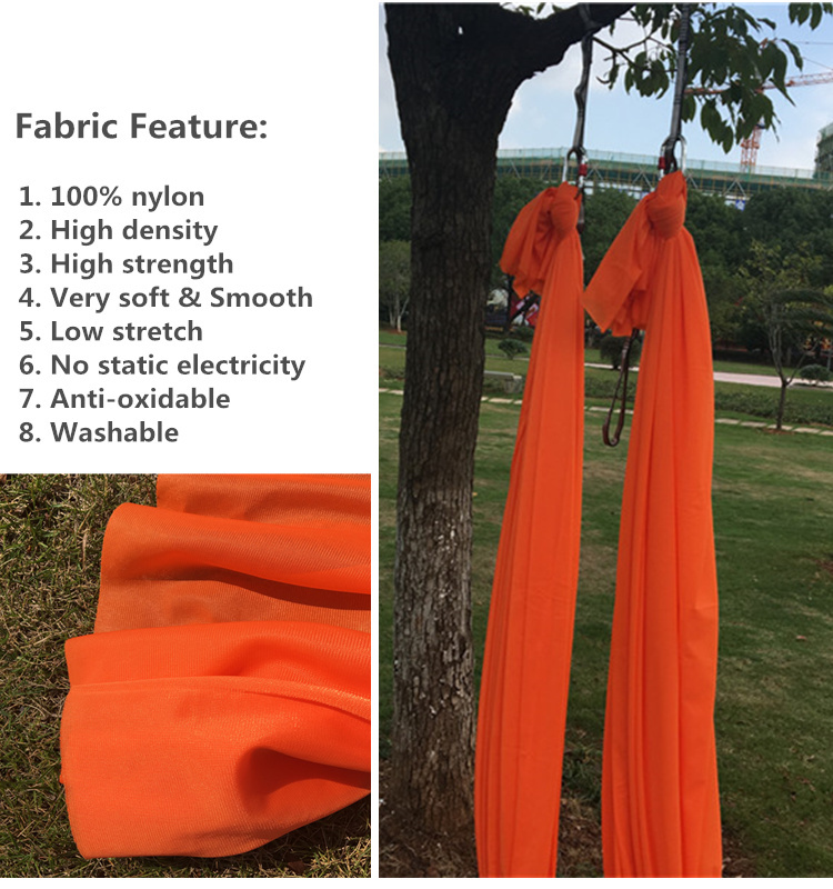 Professional Supplier High Strength 900KG Antigravity Yoga Hammock Fabric ONLY Aerial Yoga Swing Factory(See 20 Color Options)