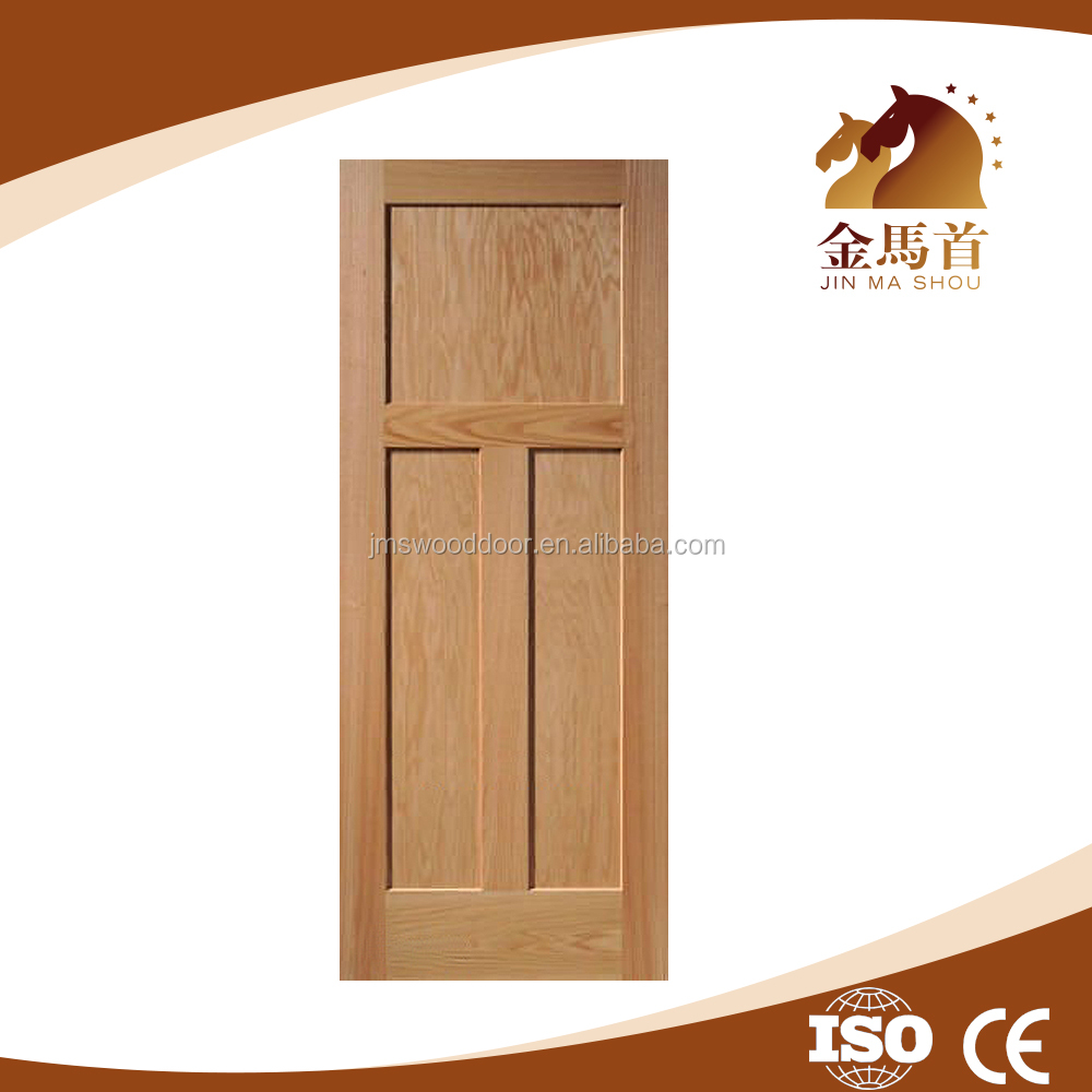 Clear Pine Wood 3 Panel, unfinished pine wood door, Door Interior Solid Pine Door