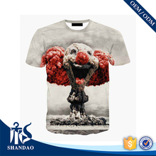 Guangzhou Supplier New Arrivals 160g 100% Polyester Short Sleeve O-Neck 3D Printed Long Line Men T Shirt