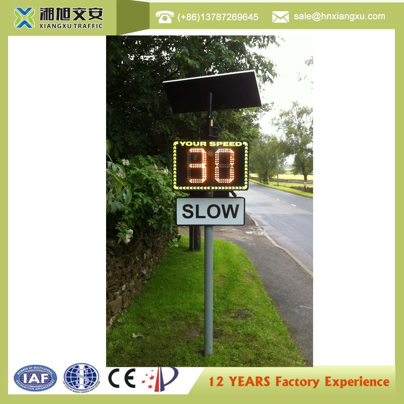 Factory wholesale solar radar enforced speed limit signs