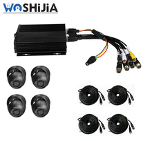 car security bus cctv camera system with 2pcs car camera aviation connectors
