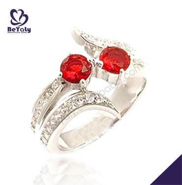 Red stone shiny wholesale silver jewellery 3d models