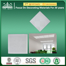 Moisture Proof Insulated Fire Proof GRG GRC Fiberglass ceiling tiles
