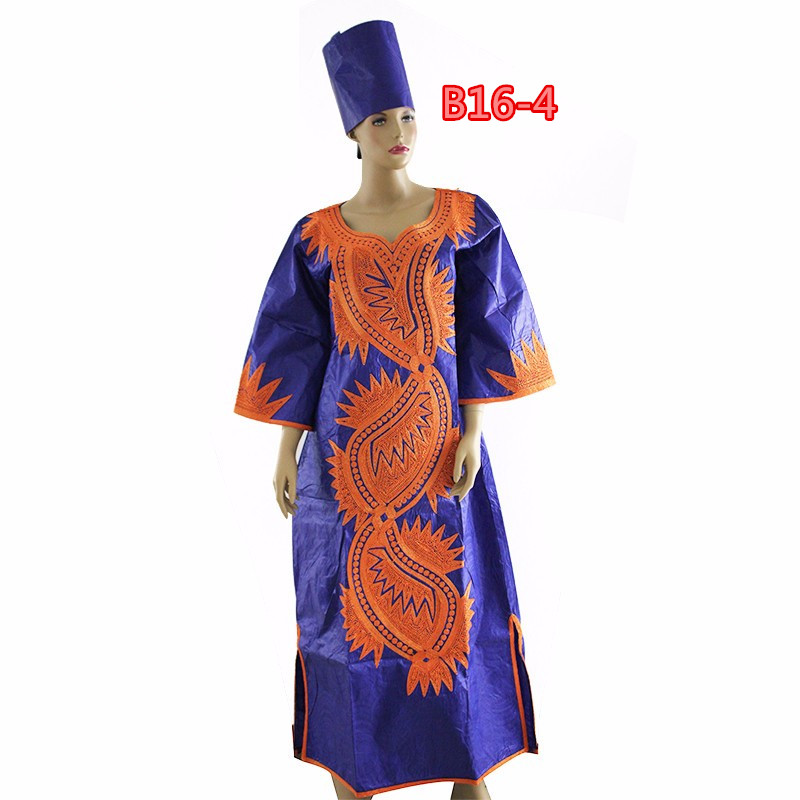 African embroidery design bazin clothes bazin riche dresses for womenB16-4