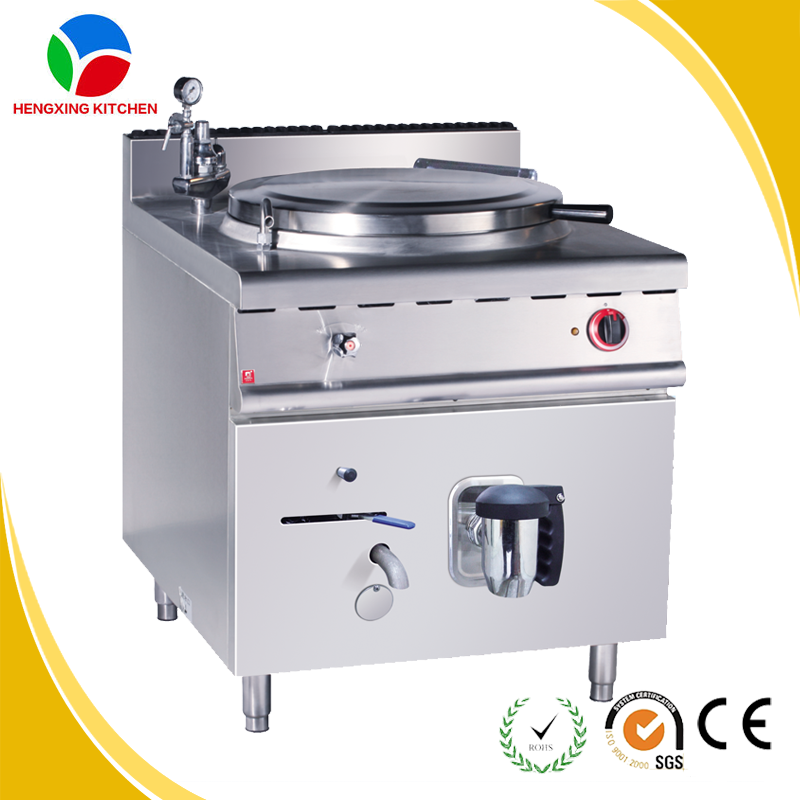 Stainless Steel Electric Tilting Boiling Pan With 150 Liters Industrial Electric Jacketed Kettle