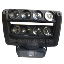 New product 8 eyes 10w 4 IN 1 quad led moving head spider light