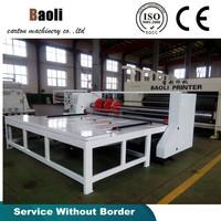 Semi-auto rotary slotter machine/Corrugated box packaging manufacturing machine
