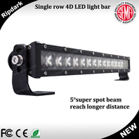 NEWEST light bar product single row led light bar 50inch 4D led light bar for off road