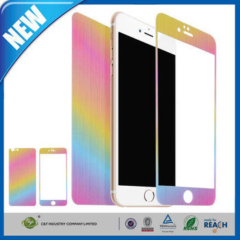 C&T Premium Front Back Colored 9H Tempered Glass Screen Protector Cover for Apple iPhone 6 Plus 5.5""