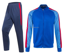 hot sale new season blue top thai quality soccer jacket and pants