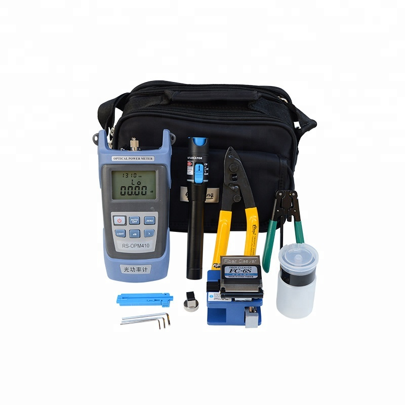 Fiber Optic cable tool kit with Optical Power Meter High quality fiber optic equipment for FTTH FTTB FTTX <strong>Network</strong>