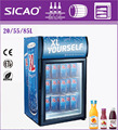 55L Showcase single glass door mini commercial refrigerators for supermarket used