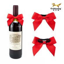 Elastic Gift Red Ribbon Bow For Wine Bottle
