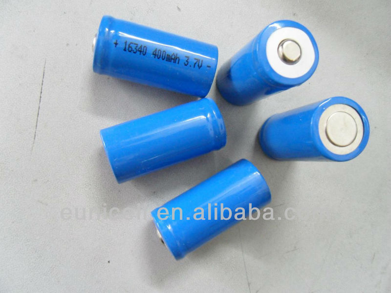 16340 3.6V rechargeable Li-ion battery 16340 ICR123A 14500