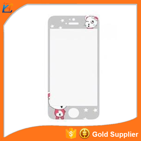 Ultra cleaer custom made for iphone 5s cartoon tempered glass screen protector