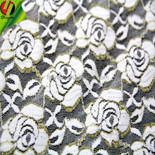 Rose pattern Fabric Polyester & Spandex Lace Fabric