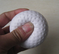 Wholesale PU foam anti stress golf shape ball