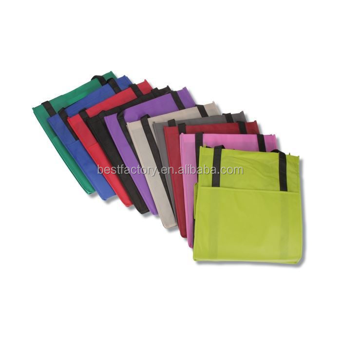Recycle pp non woven cartoon laminated large handbags or shopping bags