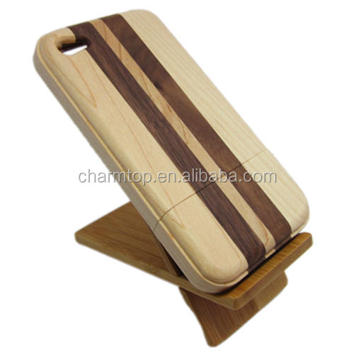 For iPhone 4 4S Real Wood Phone Case
