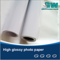 250gsm High Glossy inkjet photo paer with special price for large inkjet format printers