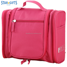 Girls Polyester Toiletry Makeup Case Large Travel Organizer Cosmetic Bags With Many Compartment