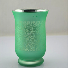 laser engraving glass candle holders glass caster cup for wedding home decoration