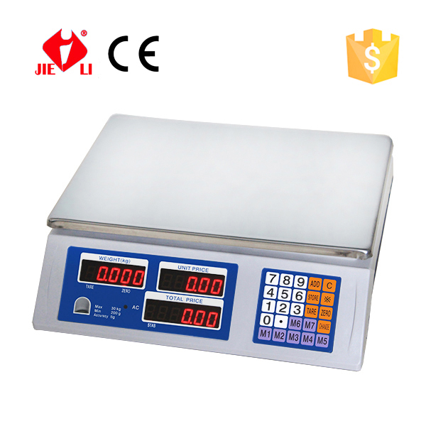 Digital scale Sri lanka condition table price computing scale from JIELI scale factory