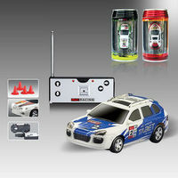 newest mini 4ch ABS 1:63 coke can mini rc car with light CE