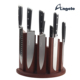 High Carbon Stainless Steel Kitchen Knife Set with Magnetic Knife Block
