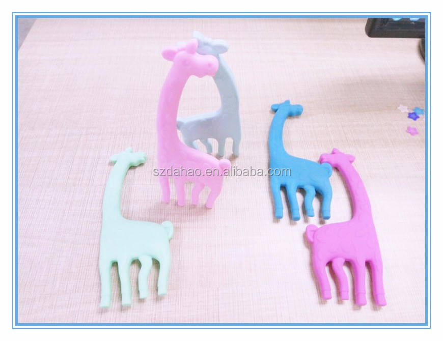 Low MOQ Silicone baby teething toys, BPA free baby silicon giraffe teether. food grade silicon vulli sophie the giraffe teether