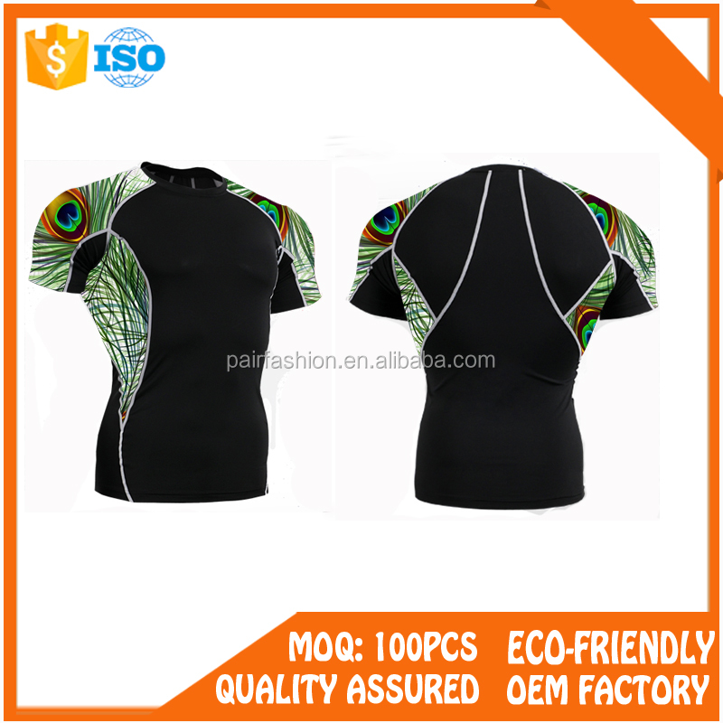 PairFashion apparel Customized Design Unisex Rash Guard,Custom Printed Rash Guard