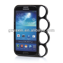 Special design finger ring style Electroplating PC Bumper cover for samsung s4,phone case for samsung galaxy i9500