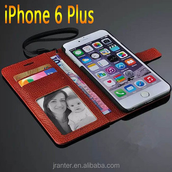 Mobile phone Flip Wallet For iPhone 6S Plus/6Plus Leather Wallet Case With Card Slot