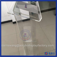 2016 HOT SALE factory acrylic podium stand / clear acrylic church podium
