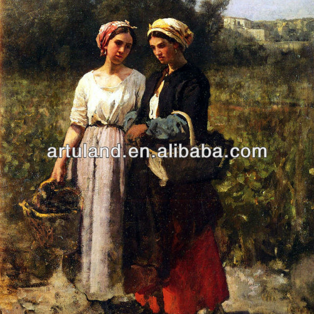 Hand reproduction of classical women oil paintings