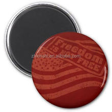 small round metal fridge magnet for refrigerator/glass door fridge magnet