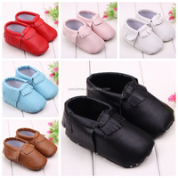 Wholesale Newborn Baby Walking Shoes Soft Sole Baby Leather Tassels Shoes Outdoor Baby Safty Shoes