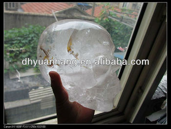 Natural Clear crystal skulls
