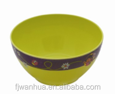 Round deep plastic mixing bowl