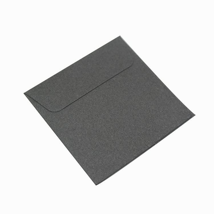 Custom eco friendly mini grey fancy paper jewelry envelope with transparent spot UV logo