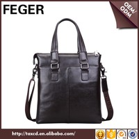 Hot Sale Custom Genuine Leather Shoulder Hand Bag For Men Wholesale China