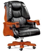 Genuine Leahther Movable Conference Chair for manager, boss(FOH-A30)