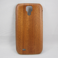 Eco-Friendly Natural Promotional Wood Back Cover For Samsung S4 Real Sapele Wood Phone Case
