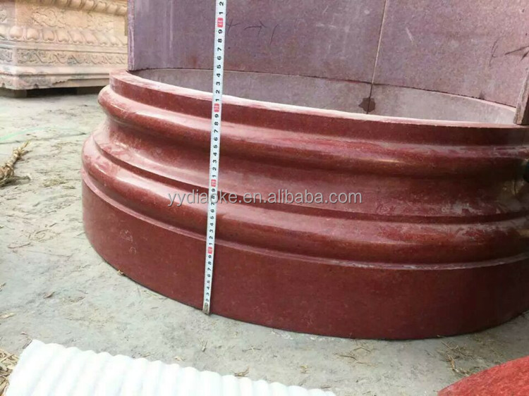 Inexpensive polished granite column cover for church