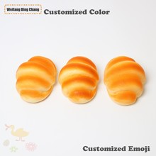 Custom Yellow Bread Soft Pu Foam Anti Stress Toy Squishy Ball