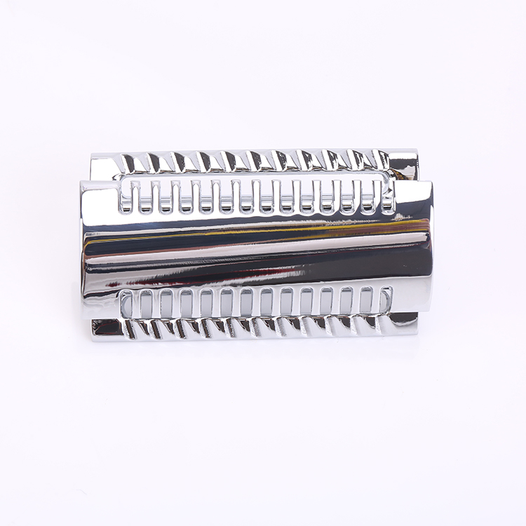 Yaqi wholesale high quality china supplier cheap mens shaving chrome closed comb zinc alloy double edge slant safety razor head