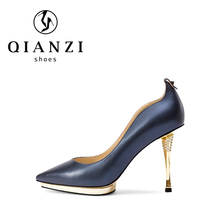 2018 spring new style pointed toe yellow and royal blue womens high heels dress shoes