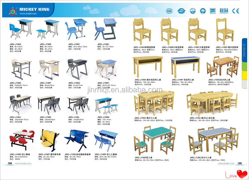 Classroom Furniture Dimensions ~ Fashional design used student desks kids school tables and